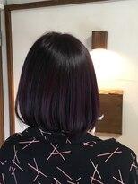 ヘアーメイク プリュム(Hair make Plume)ダークバイオレットグラデーションカラー!!