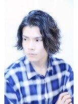 【M/J SOUL】黒髪ラフ強めパーマ