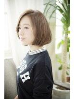 アッシュタカサキ(ash takasaki)小顔見せで大人かわいい☆無造作ナチュラルな大人耳掛けボブ
