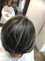 コレット ヘアー 大通(Colette hair)ハイライトボブ×グレイヘアカバー