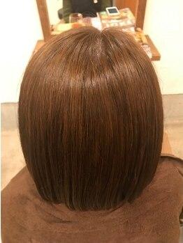 カルムヘアー(Calm hair)の写真/【カラー+トリートメント¥8000】長さ一律☆92%天然由来成分のオーガニックカラーでダメージレスのツヤ髪に*