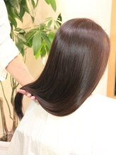 ビアンカ 髪にやさしい美容室(bianca)毛先までうるおってるのにサラサラなスウィートセミディ
