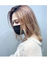 コンパス(COMPASS)【マスクヘア】透明感ベージュアッシュミディ