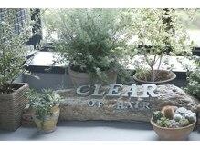 クリアーオブヘアー 本山店(CLEAR of hair)の雰囲気(二階の大きな窓から見えるテラスのグリーン)