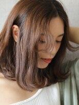 ノエルヘアー(Noel hair)外ハネニュアンスの艶っぽミディアムvol.3