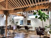 シスコ ヘア デザイン(Scisco hair design)の雰囲気(木をたくさん使い癒される店内、中庭もあります。)