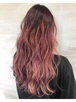 ヘアアンドビューティー クローバー(Hair&Beauty Clover)pink gradation