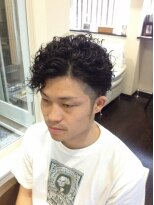 ガーデン ヘアー ワーク(garden hair work)男臭さ全開!ツーブロパーマ