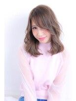 ウノプリール 梅田店(uno pulir)★シャイニーブルージュ★ミディアムレイヤースタイル