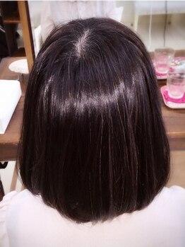ヘアーアンドメイクアップ ボンボーノ(Buon BuonO)の写真/【那覇市金城】くせを抑え、ナチュラルなストレートに♪アルカリ剤不使用で髪に優しいクリニカル縮毛矯正☆