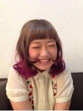 ユノン ヘアーアンドキッズスペース(unow hair&kid's space)毛先ピンクパープル☆