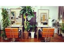 ヘアスタジオ アンジェリカ(Hair Studio Angelica)の雰囲気(ゆったり座れるくつろぎブース)