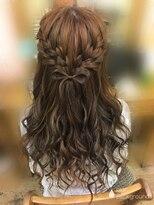 ヘアセットサロン アトリエ チャイ(Hair set salon atelier CHAI)ナチュ可愛♪ガーリーハーフアップ