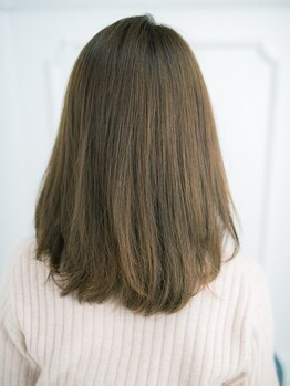 エースヘアーユニオン(ACE HAIR UNION)の写真/【◆カット+カラー+縮毛矯正¥16480】ダメージを最小限に抑える施術で、指通りのなめらかさが違うと、好評◎
