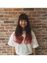 ヘアメイク オブジェ(hair make objet)真夏のピンクカラー