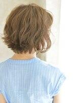 ヘアアンドメイク アリス(hair&make ALICE produce by COLT)シースルーバング&切りっぱなしショートボブ&ティーベージュ