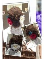クラメール 黒崎コムシティ店(Kraemer)ブルーノがご提案する浴衣にあったヘアスタイル 14