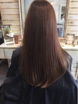 プレイス(+PL@s)の写真/髪の深層内部から髪質改善★ノーベル賞受賞成分配合の【INKARAMIストレート】で驚くほど柔らかな艶髪へ…♪