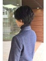 ヘアメイク シュシュ(Hair make chou chou)ショートパーマ黒髪ハイライトカラーホワイトアッシュ