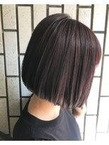 ヴィークス ヘア(vicus hair)『ミニボブ×ラベンダーグレー』by 井上瑛絵
