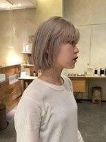 デコ(DECO)《RYUSEI》ホワイトブロンド小顔ミニボブハイトーン髪質改善20代