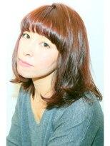 ココティエ (COCOTIER)☆厚めバングのピンクベージュカラー☆