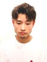 銀座マツナガ 浅草店ツイストスパイラルパーマ黒髪ツーブロック73アップバング
