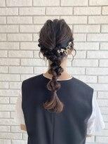 結婚式!きれいめ編みおろしヘアセット♪