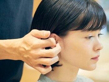 ジェノ(JENO)の写真/ヘアリセッター&頭皮ブラシで生え癖も自在に操る。自分に自信をくれるDesignに![前髪カット+極潤Tr¥5400]