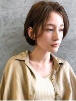 エイチスタンド 渋谷(H.STAND)アッシュブラウンネオウルフワンサイドショート[髪質改善/渋谷