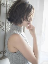 【THREEbyKEEP尾山台三橋】ボブデジタルパーマ、アッシュカラー