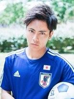 アクロス 原宿(AKROS)#スポ髮 日本代表アップバング×アシメ風パーマ