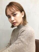 ミィー(mee.)【mee.】イシガミ ココアブラウン前髪カタログ
