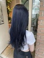 サロンドミルク 原宿(salon de MiLK)韓国風 ネイビーブルー お洒落可愛い 髪質改善 艶々