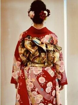 シャングリラ Shangri‐La ヘアメイク hairmakeの写真/【美容歴20年の女性オーナーが担当】成人式や卒業式・入学式にもおすすめ!着崩れしない晴れ着スタイルに♪