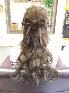 結婚式髪型ハーフアップ ヘアアレンジ