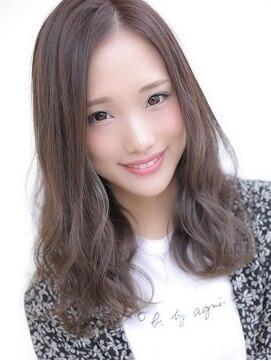 アグ ヘアー ドレス 喜久田店(Agu hair dress)グレージュ×カールミディ