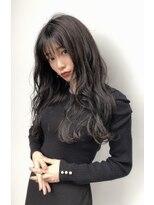 ドォート(Dote hair make)【林's】巻き髪ロング×グレージュ 黒髪