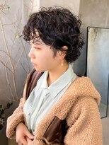 テトヘアー(teto hair)くるくるスパイラルパーマ ボブ ショート 黒髪