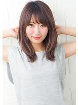 【京都】小顔斜めバング30代40代ひし形黒髪ボルドーグレージュ