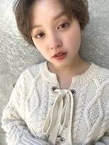 マージュ ギンザ(marju GINZA)丸みマッシュショート/ことりベージュ