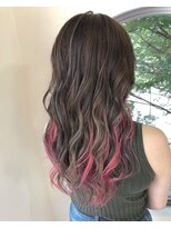 インナーカラー!ピンクパープル!デザインカラー