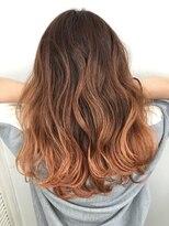 【REJOICE hair 】グラデーションオレンジブラウン
