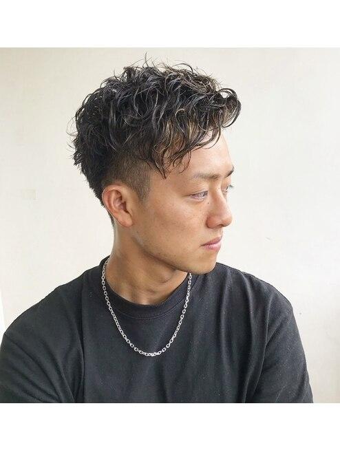 ツイスト パーマ メンズ 短髪