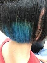 マーメイドヘアー(mermaid hair)グラデーションインナーカラー☆ターコイズ