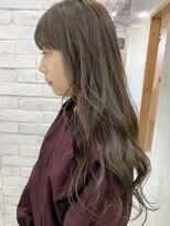 ロッジ 原宿店(RODGE)【nana】髪質改善 イルミナカラー オリーブベージュ