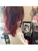 マイ ヘア デザイン(MY hair design)ピンクバイオレットグラデーション