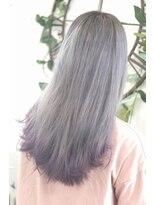 ヘアーサロン エール 原宿(hair salon ailes)(ailes 原宿)style383 デザインカラー☆シルバー×パープル