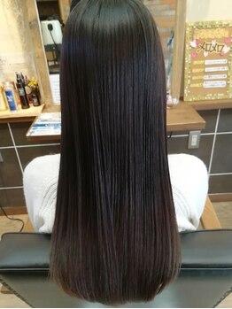 美容室 ジャミン(Jammin.)の写真/うねり・クセ・パサつき等の髪質を改善◎まるで絹の様に滑らかで、ごく自然な柔らかストレートヘアに♪