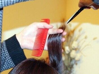 ペルソナ(hair salon Persona)の写真/カウンセリングから仕上げまで責任をもってオーナーが担当!相談もしやすいから理想のヘアスタイルが叶う♪